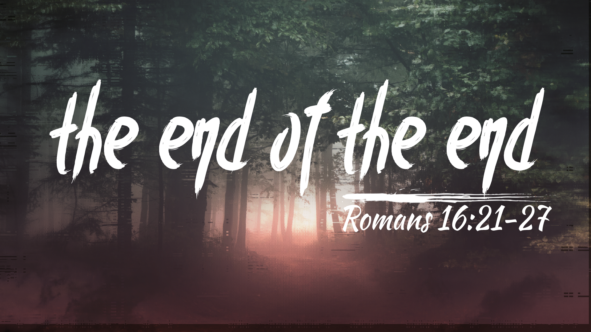 the end of the end